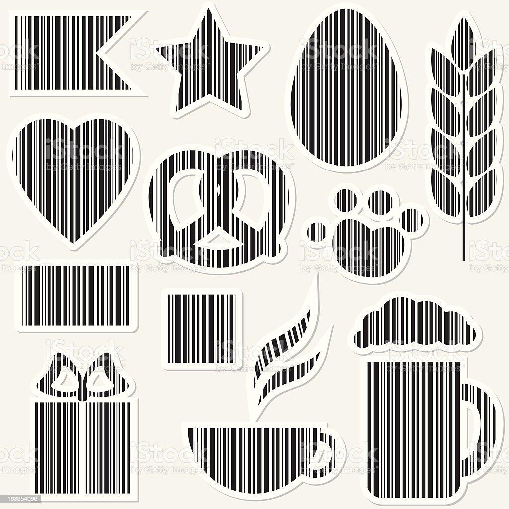 Bar codes set royalty-free stock vector art
