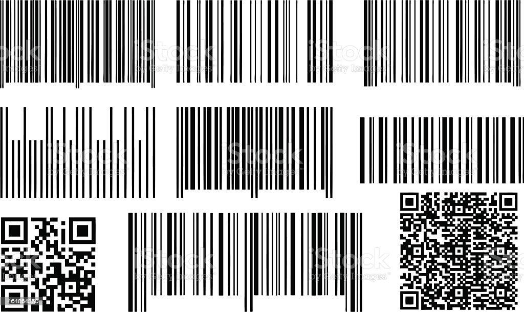 bar codes vector art illustration