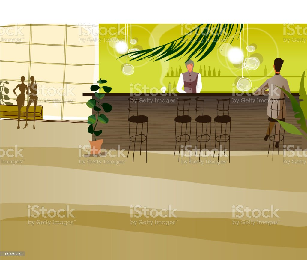 Bar counter royalty-free stock vector art