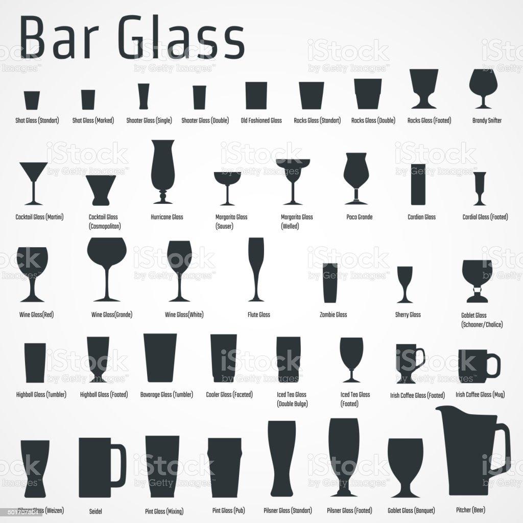Bar glass Icon vector art illustration