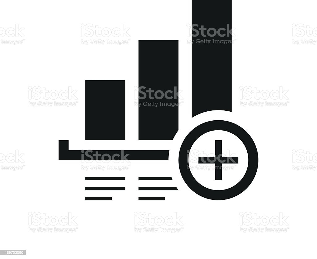 Bar Graph icon on a white background. - Single Series vector art illustration