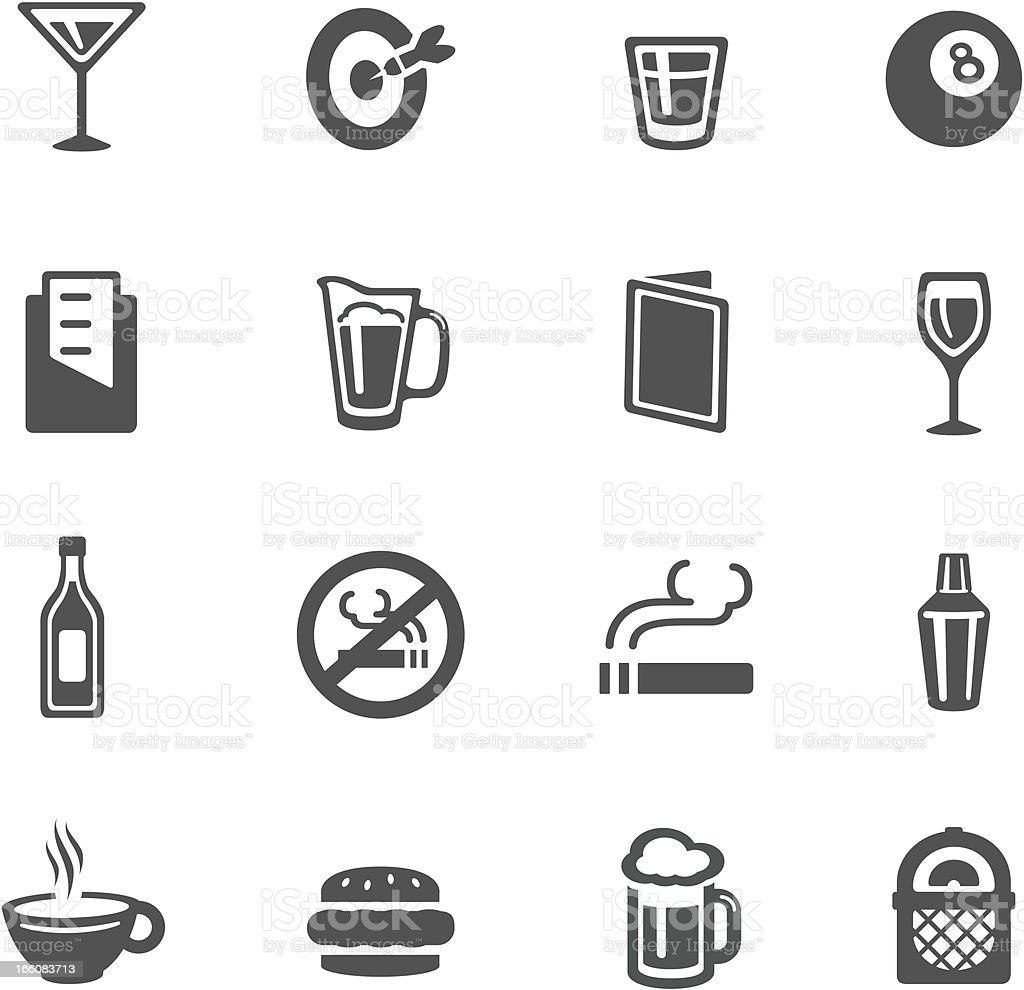 Bar Icons vector art illustration