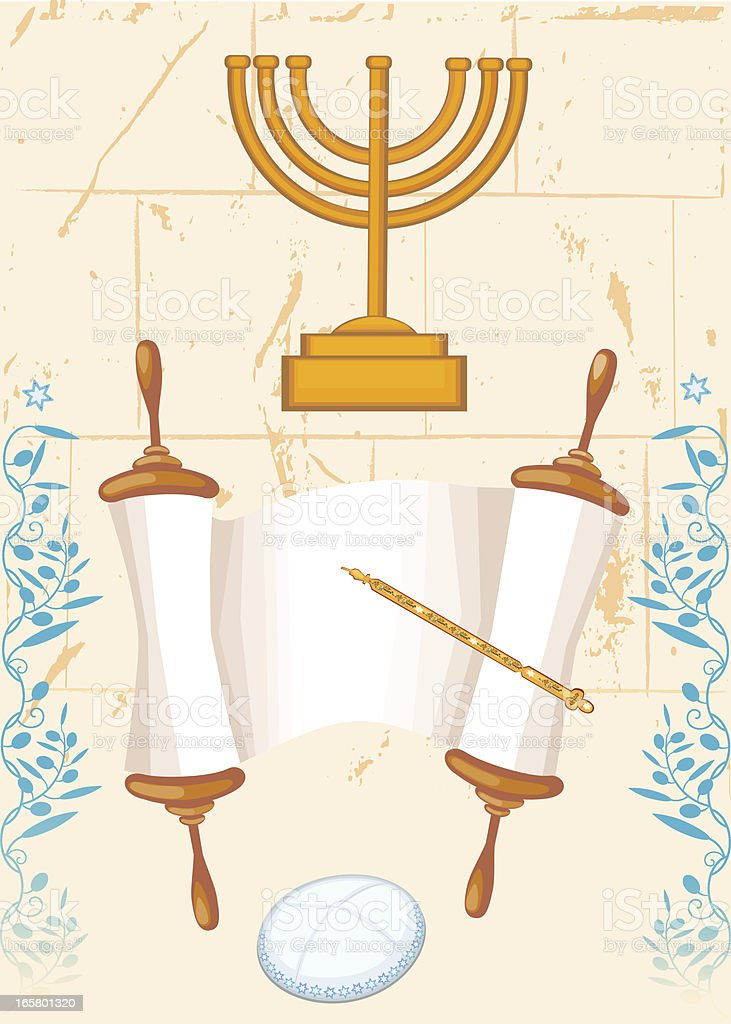Bar Mitzvah Set vector art illustration