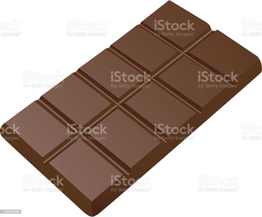 Bar of chocolate royalty-free stock vector art