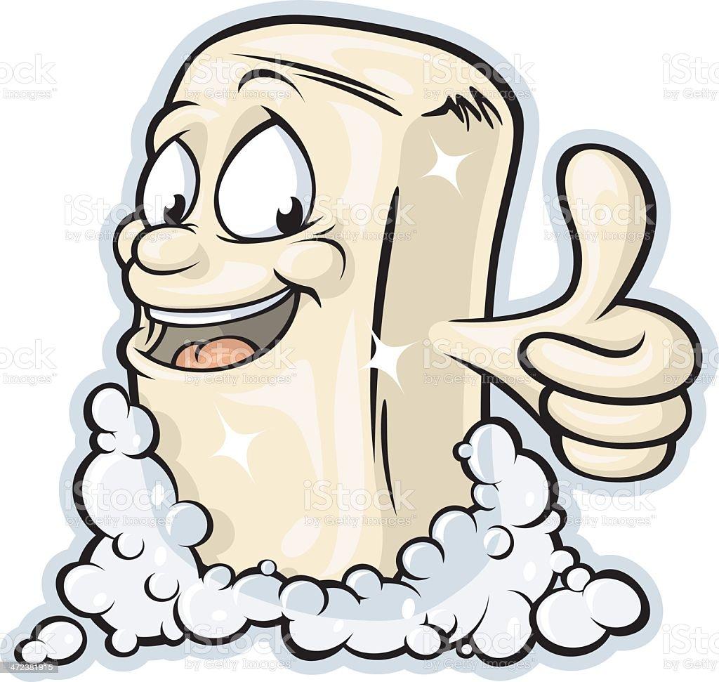 Bar Soap Mascot royalty-free stock vector art