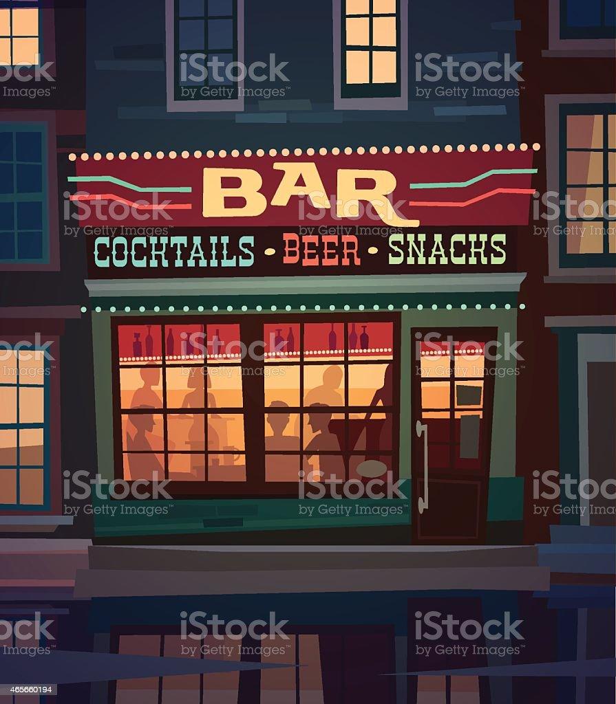 Bar vector art illustration