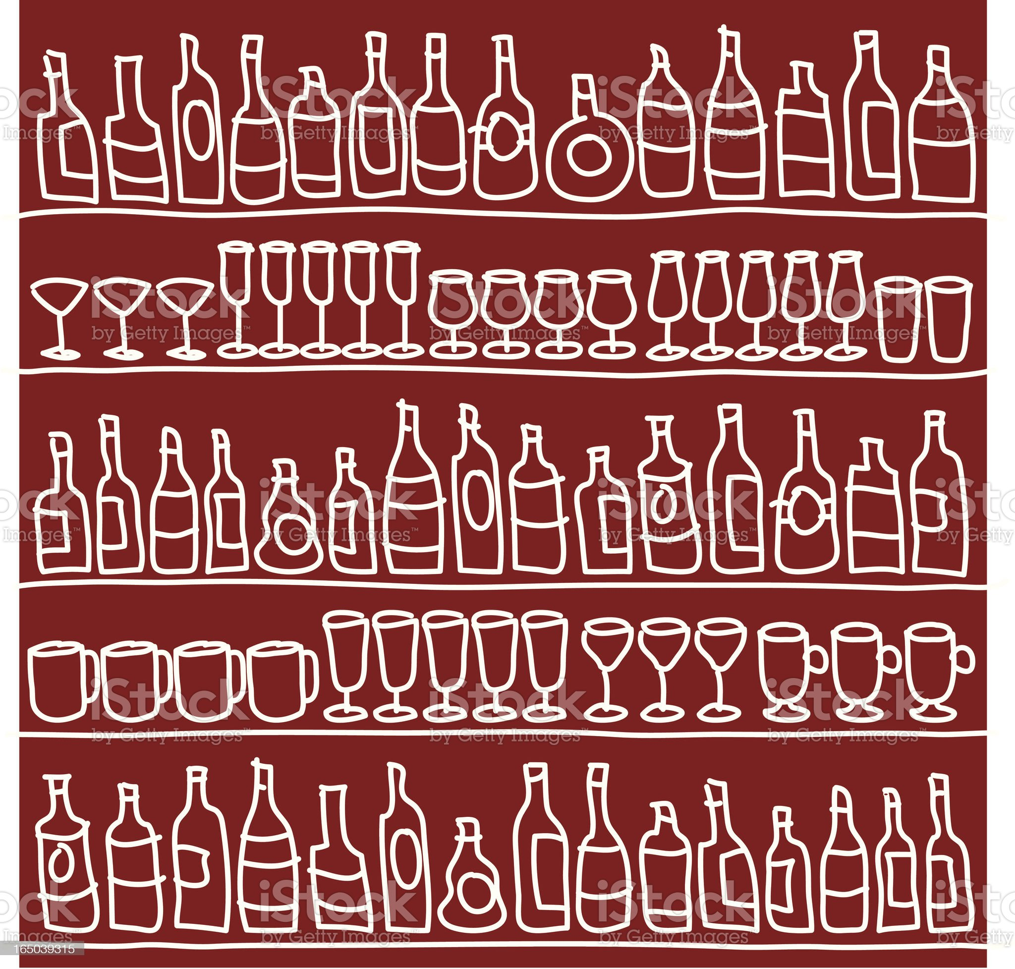 Bar Wallpaper Background royalty-free stock vector art