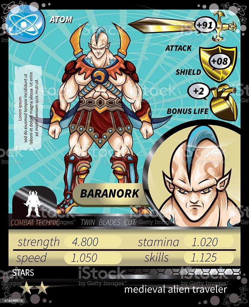 Baranork_Card vector art illustration