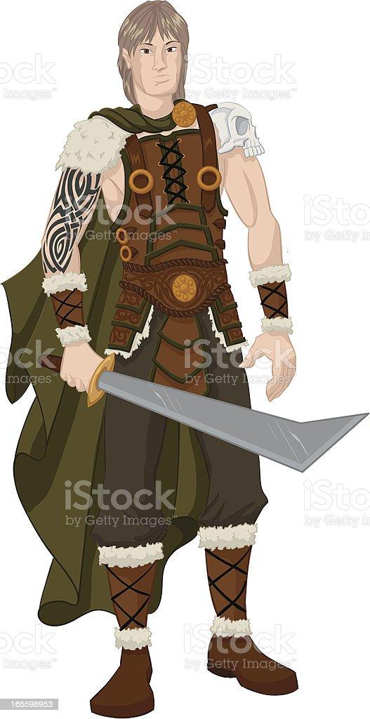 barbarian vector art illustration