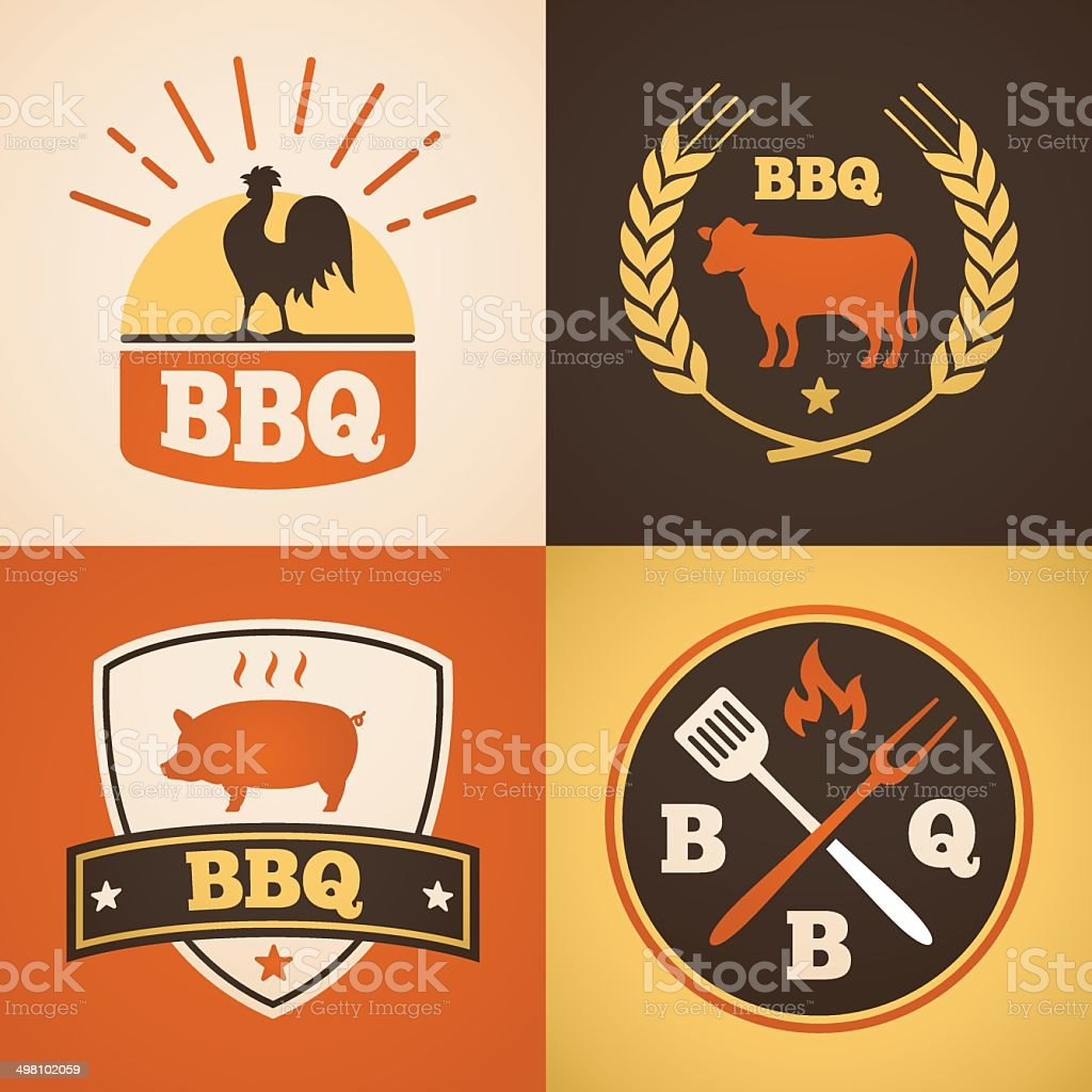 Barbecue Design Elements royalty-free stock vector art