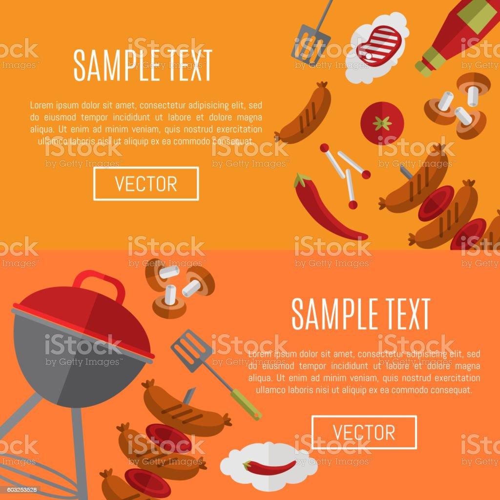 barbecue grill horizontal website templates stock vector art