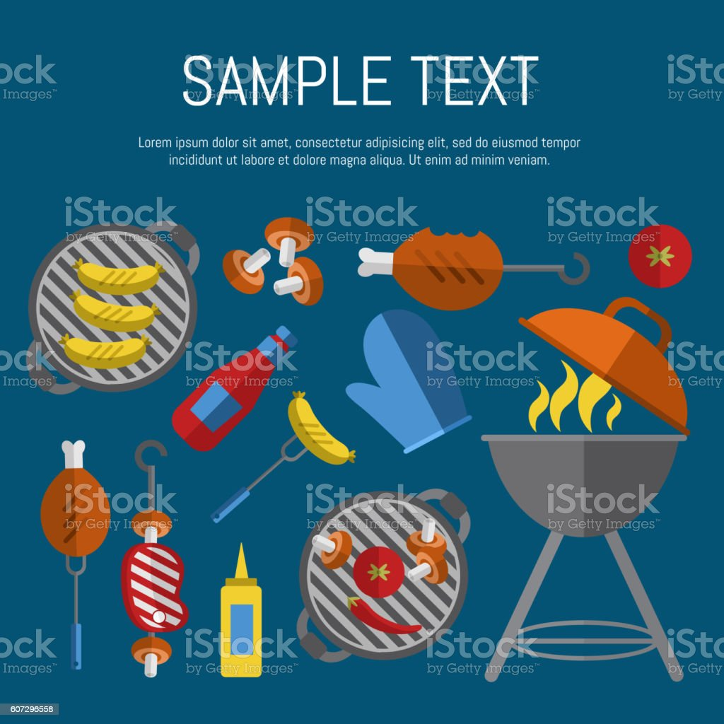 Poster design for free - Barbecue Grill Poster Design Template Royalty Free Stock Vector Art