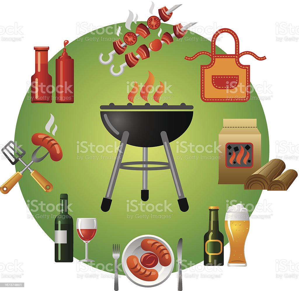 barbecue icon royalty-free stock vector art