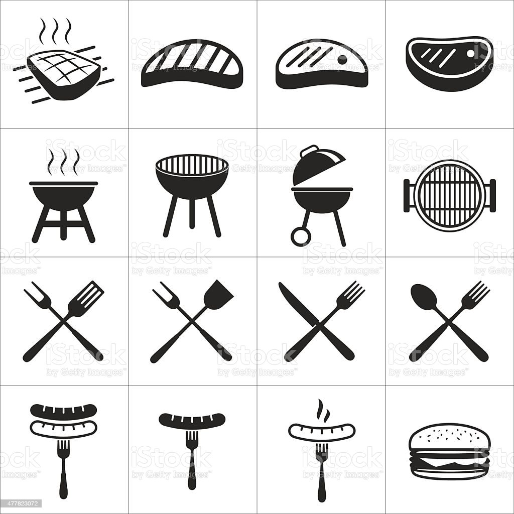 barbecue icon vector art illustration
