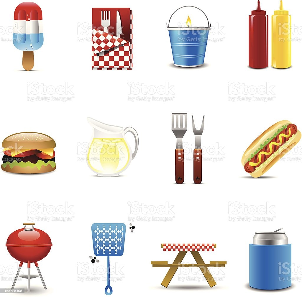 Barbecue Icons royalty-free stock vector art