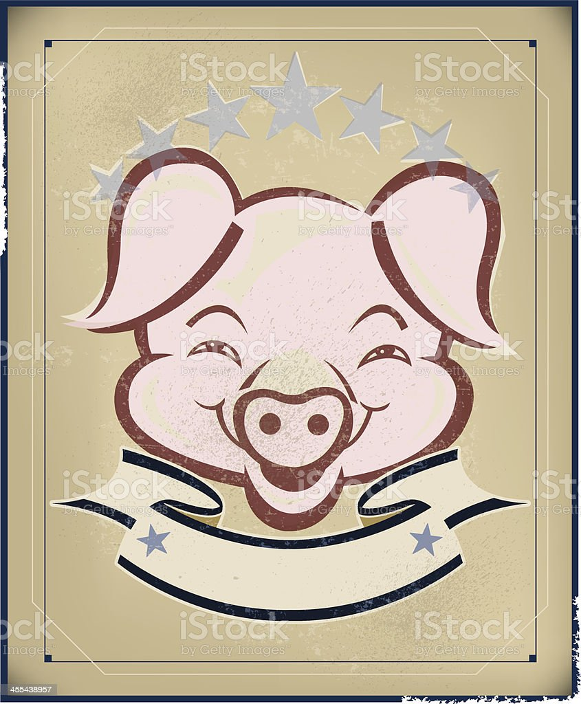 Barbecue Pig Background Banner royalty-free stock vector art