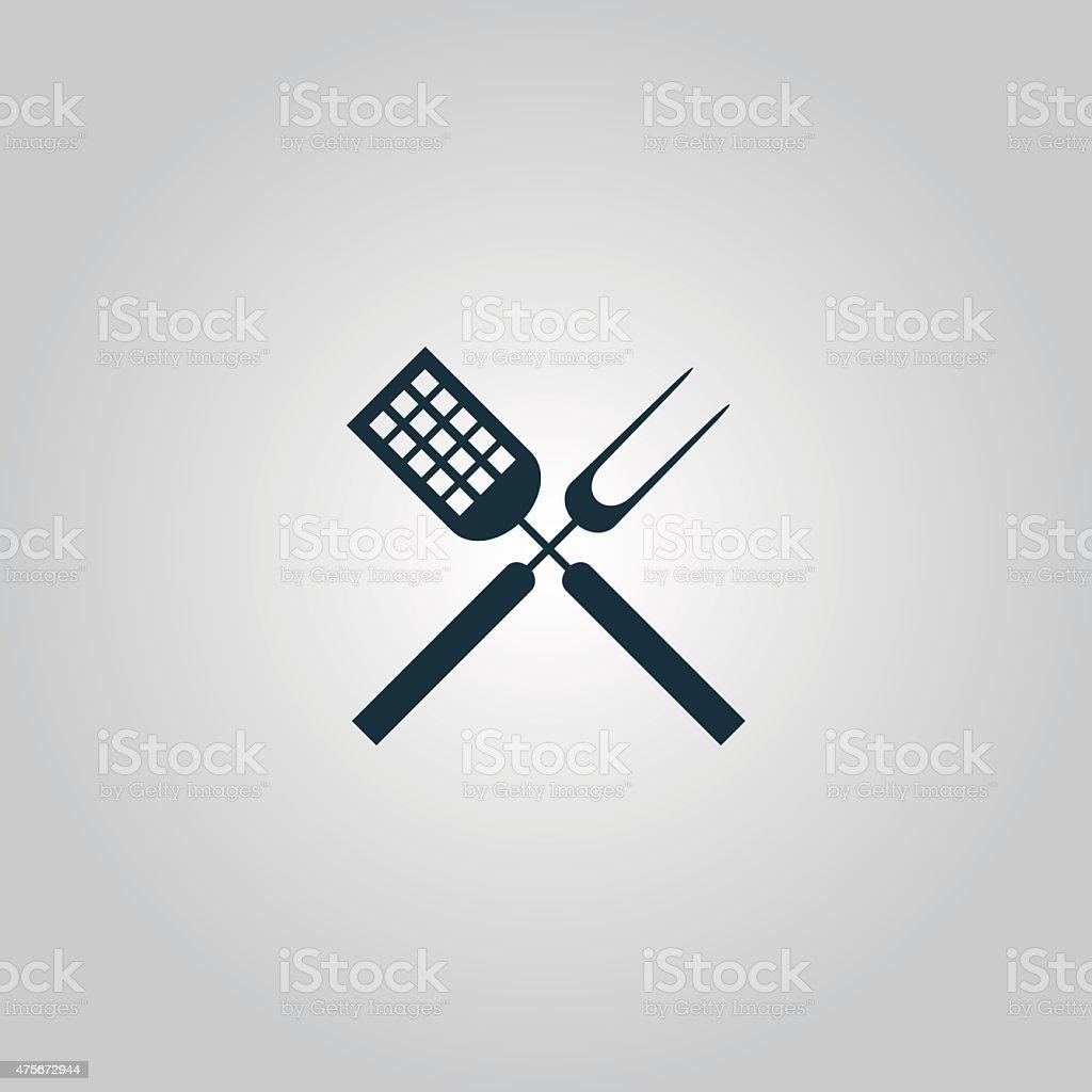 Barbecue utensils vector art illustration