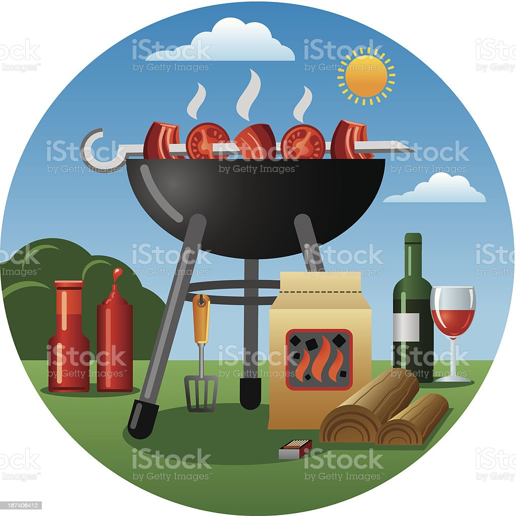 barbecue royalty-free stock vector art