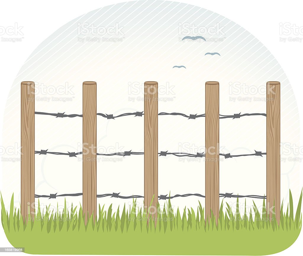 Farm Fence Clipart farm fence post clip art, vector images & illustrations - istock