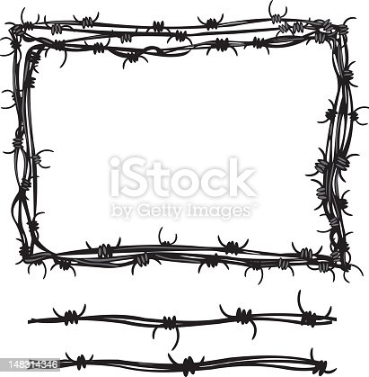 3d rendering of barbed wire in a circle