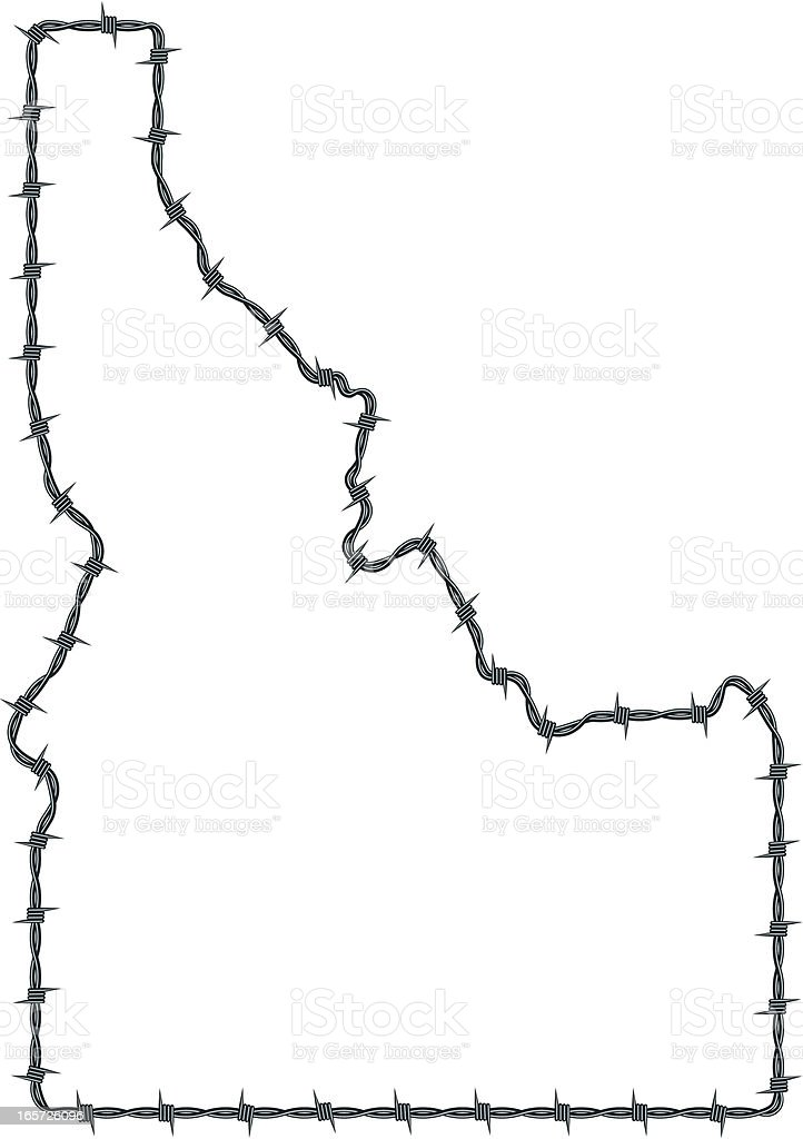 Barbed Wire Idaho royalty-free stock vector art