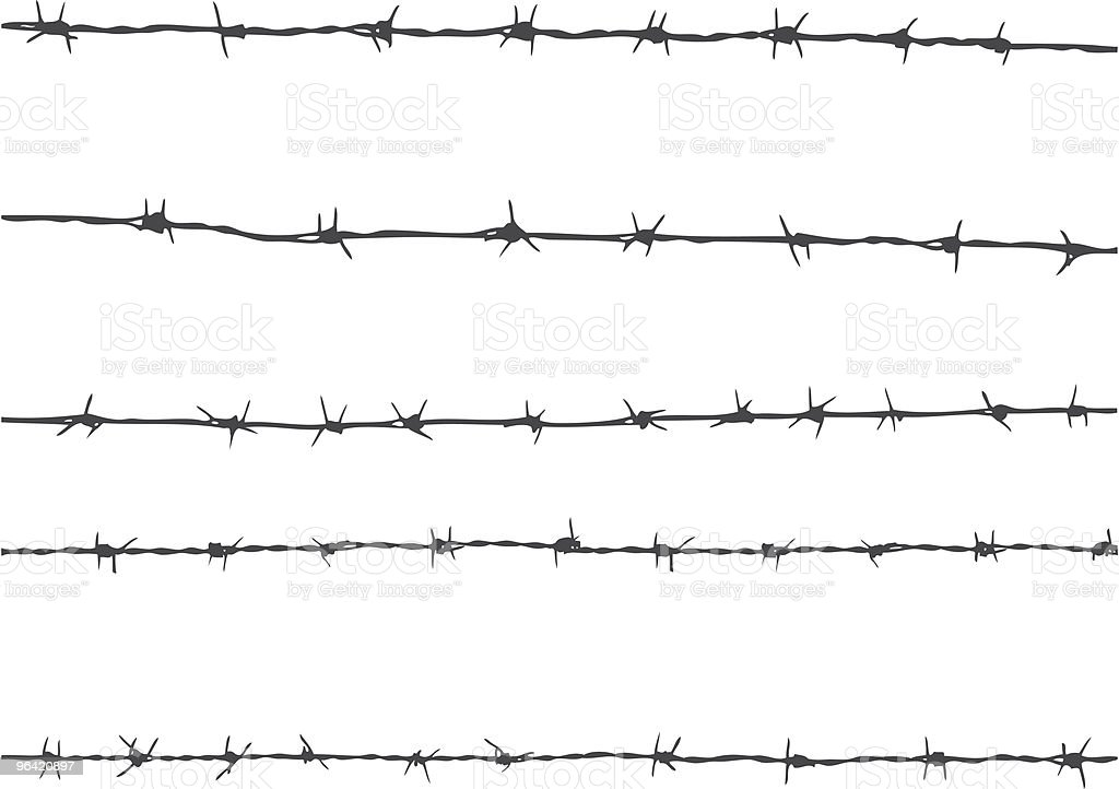 barbed wire vector art illustration
