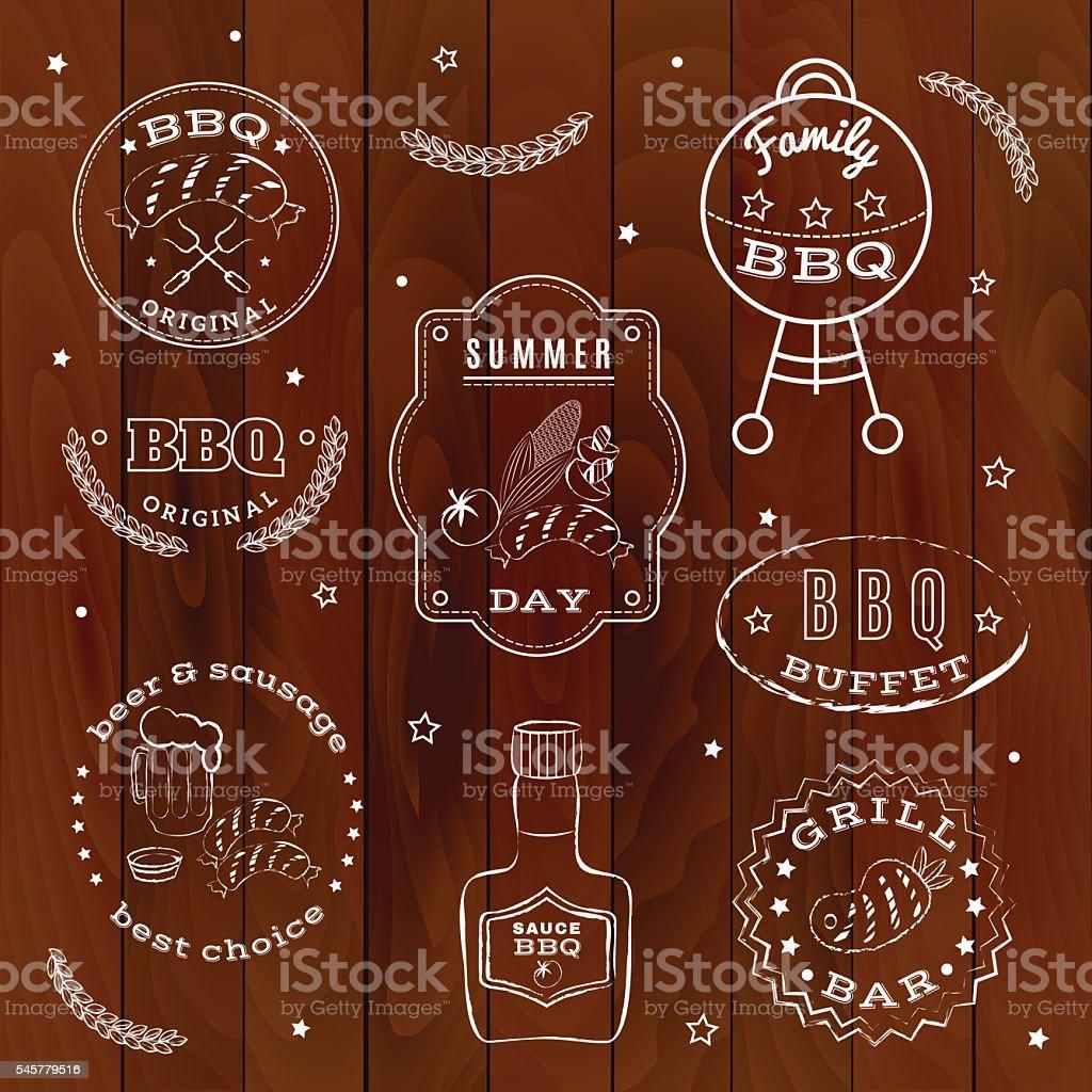 Barbeque set. Vector illustration. stock vecteur libres de droits libre de droits