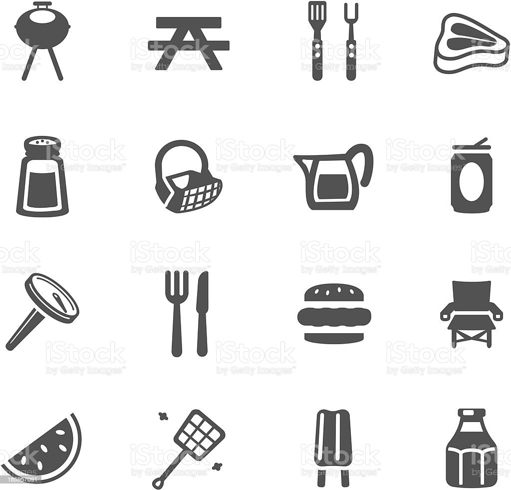 Barbeque Symbols vector art illustration