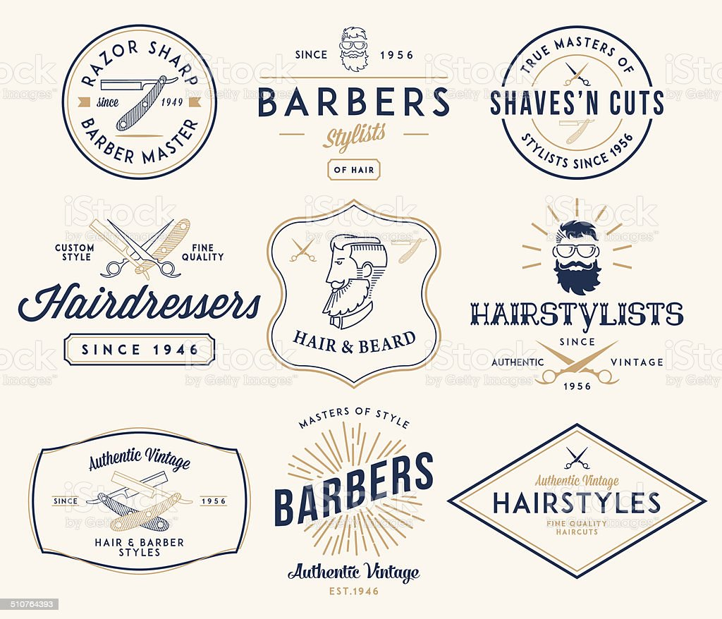 Barber 2 colored vector art illustration