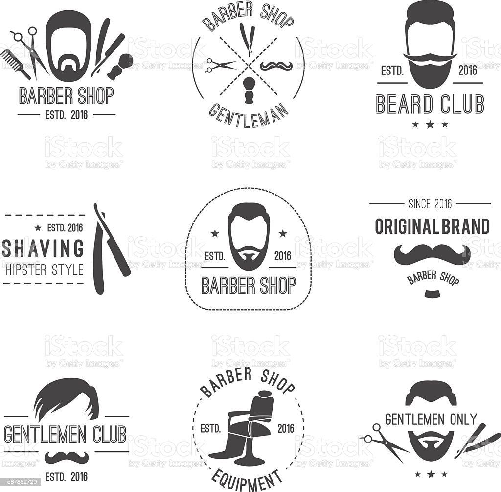 Barber emblems. vector art illustration