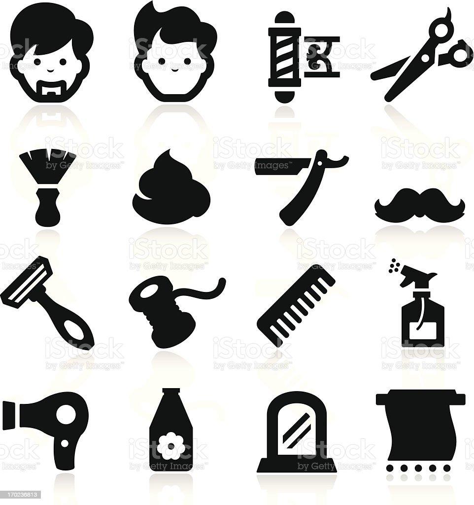 Barber Icons vector art illustration