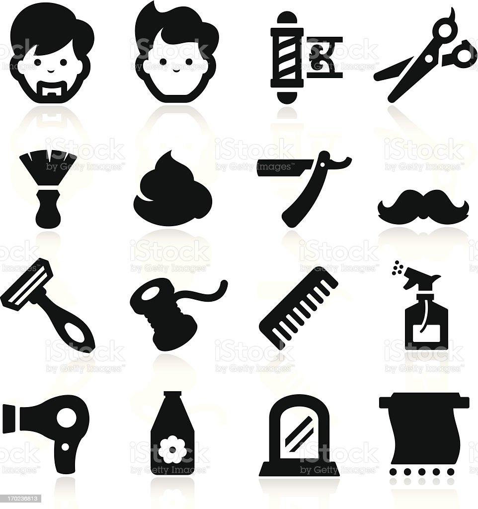 Barber Icons vector art illustration