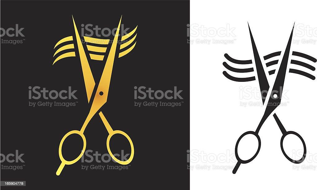 Barber Scissor Sign vector art illustration