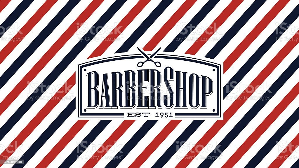 Barber shop background vector art illustration