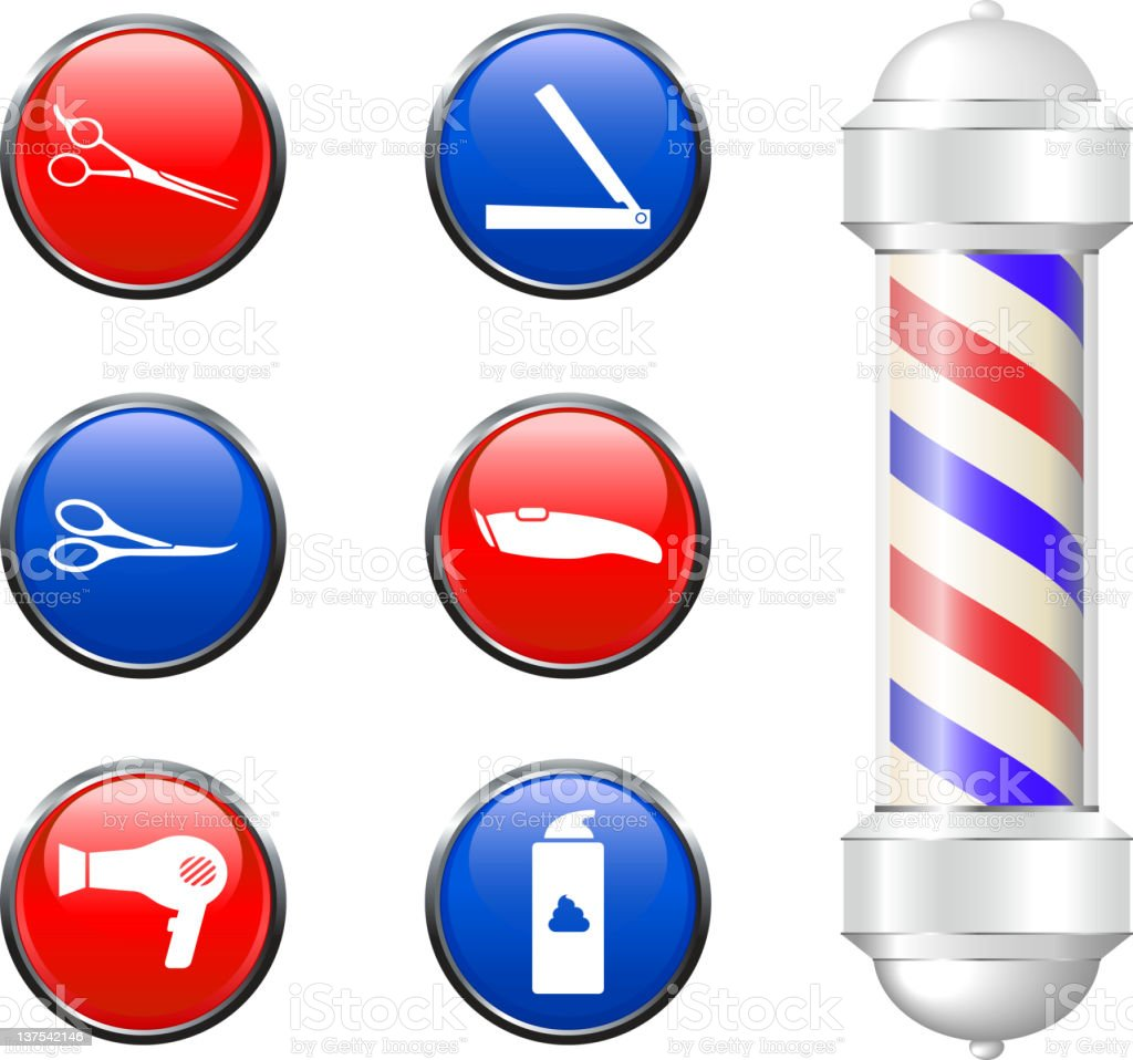 Barber shop equipment royalty free vector arts royalty-free stock vector art