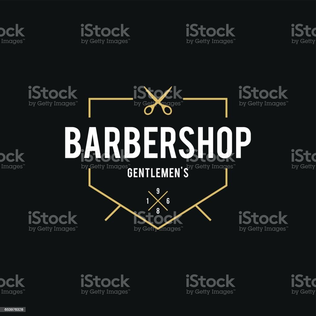 Barber Shop Retro Styled illustration vector art illustration