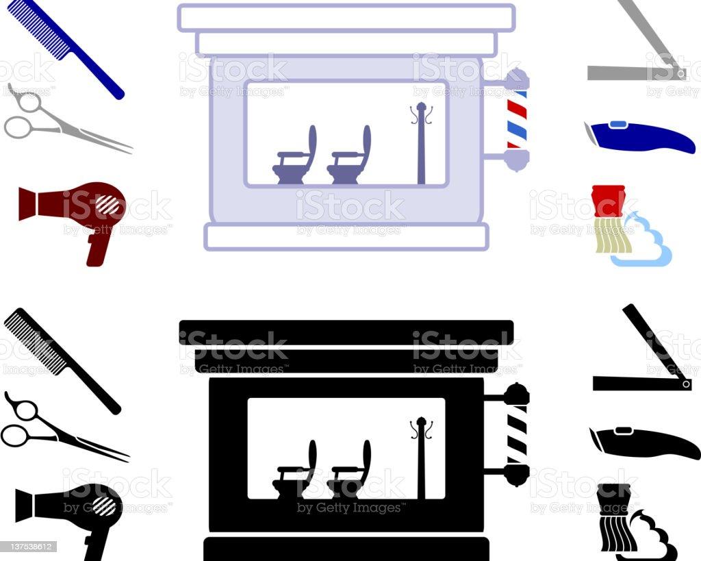 Barber Shop royalty-free stock vector art