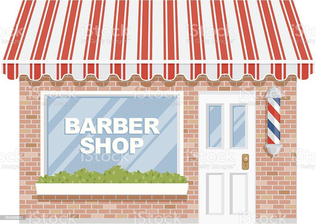 Barber Shop vector art illustration