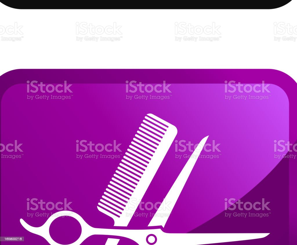 Barber Tools royalty free vector icon set stickers royalty-free stock vector art