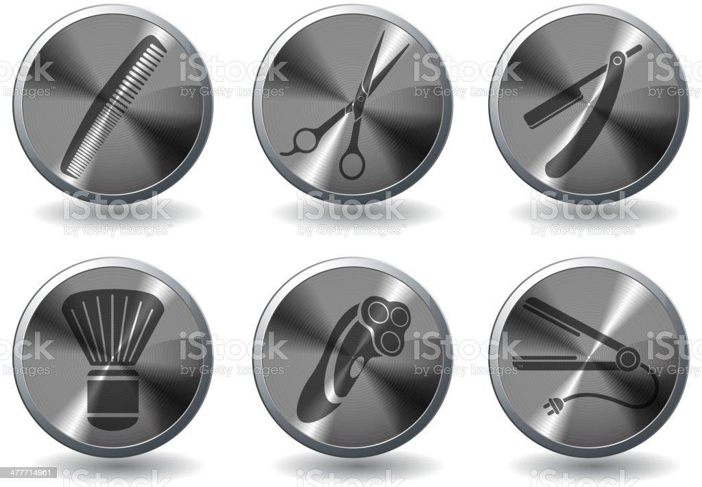 Barbershop icons vector art illustration