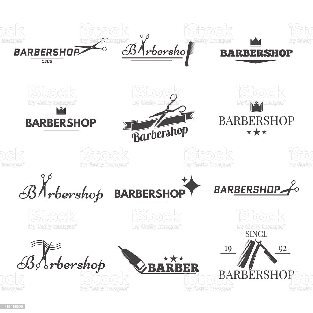 barbershop vector art illustration