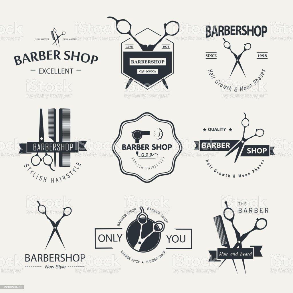 Barbershop vector art illustration