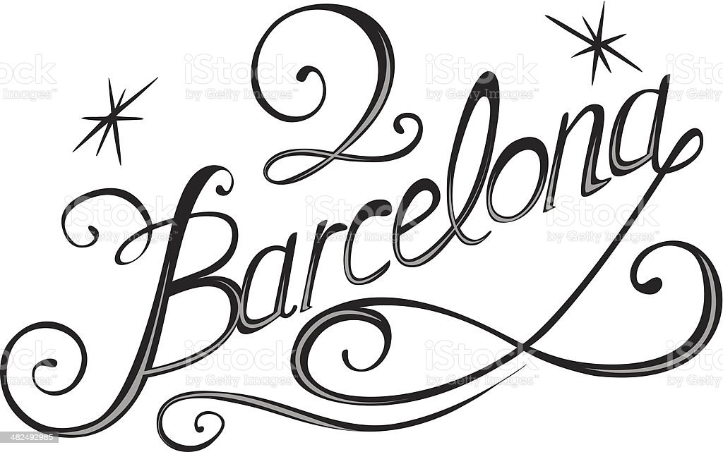 Barcelona royalty-free stock vector art