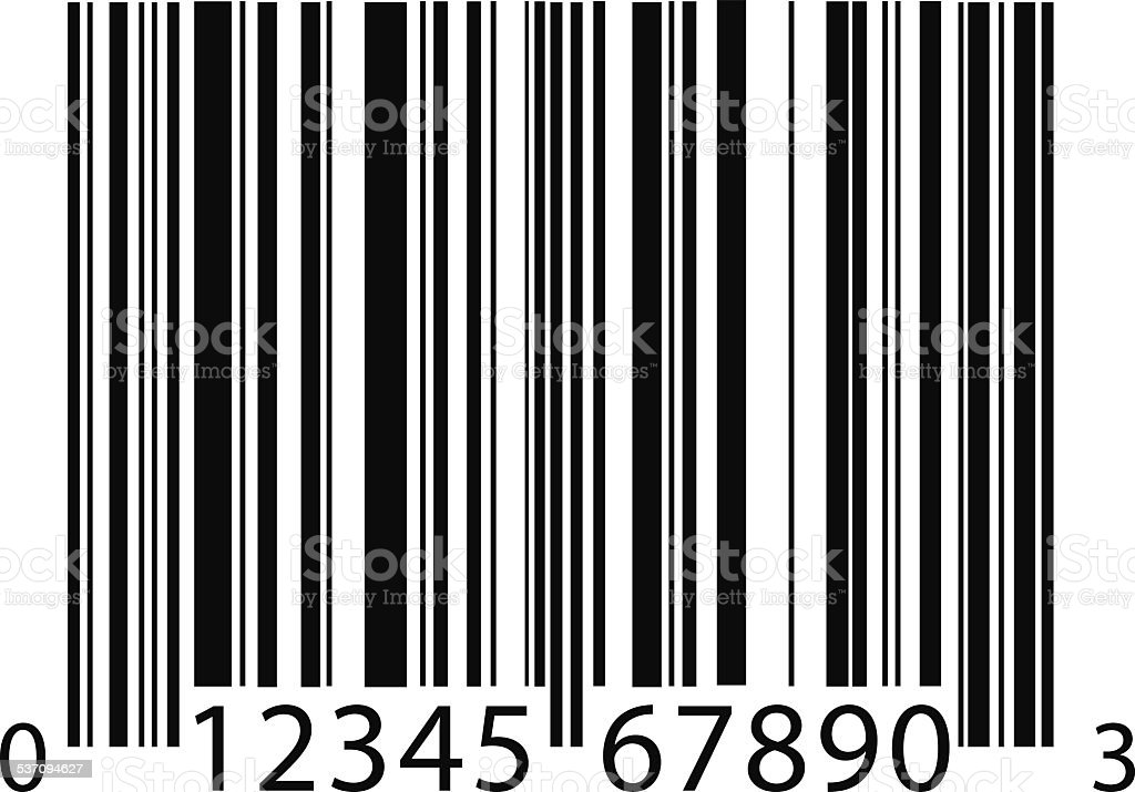 barcode background vector art illustration
