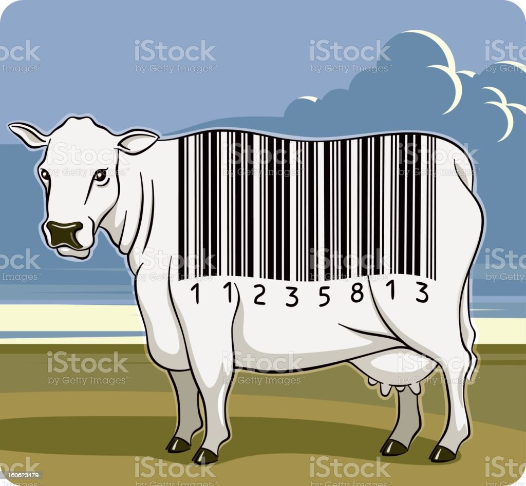 Barcode Cow royalty-free stock vector art