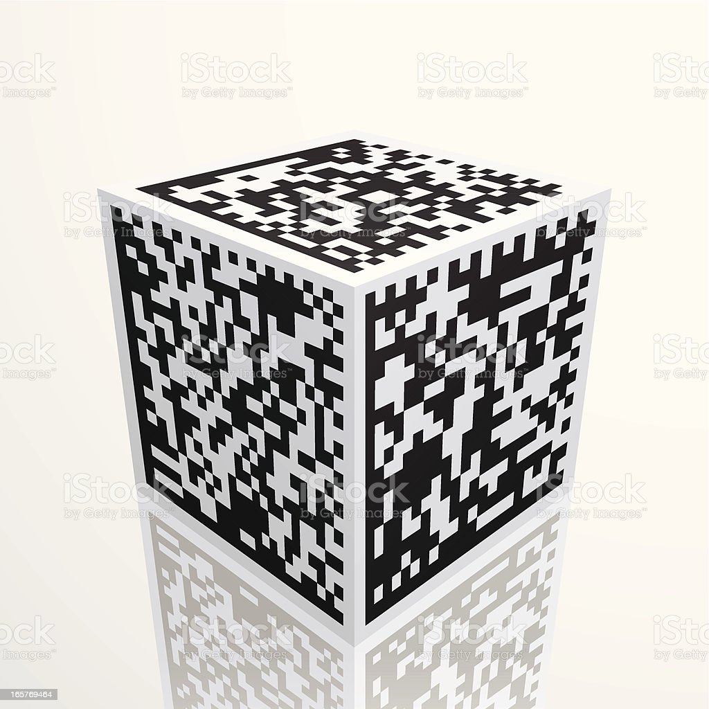 barcode cube royalty-free stock vector art