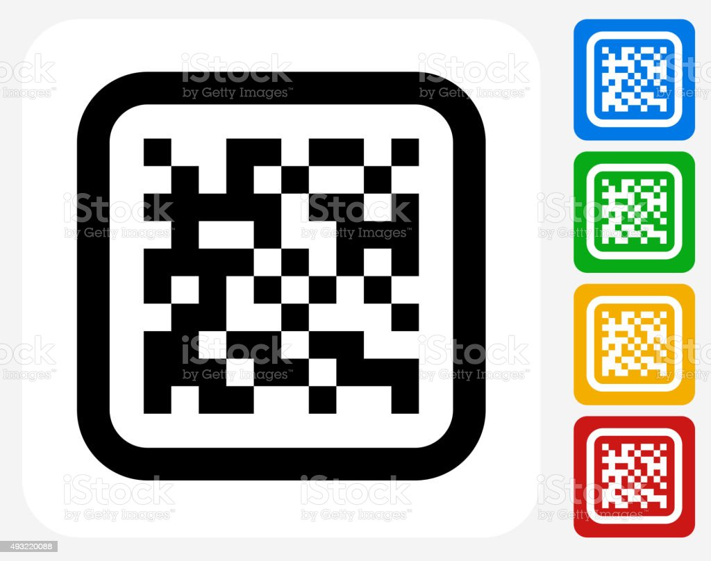 Barcode Icon Flat Graphic Design vector art illustration