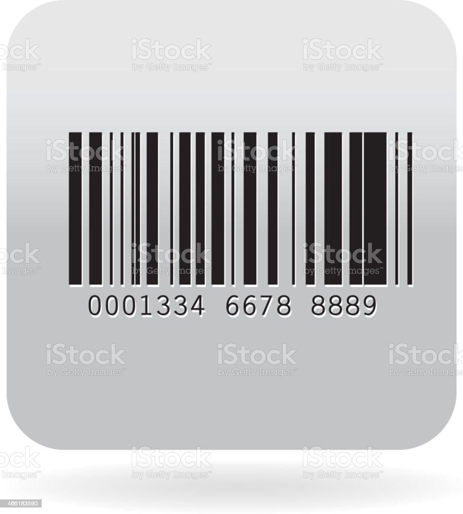 Barcode icon vector art illustration