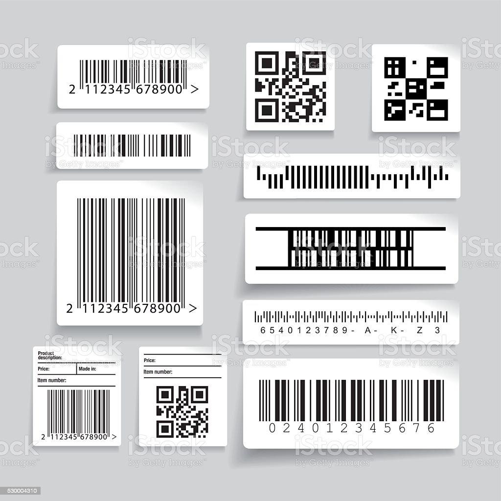 Barcode label set vector vector art illustration