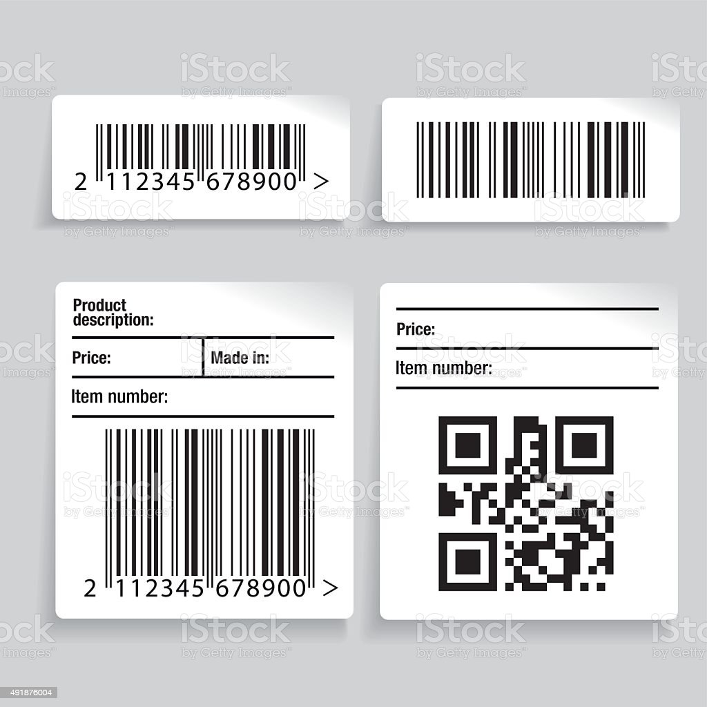 Barcode label vector set vector art illustration